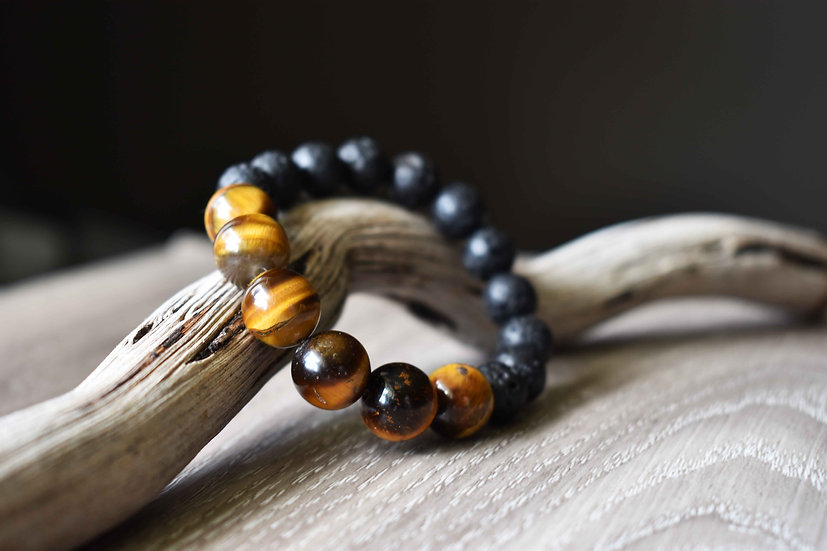 tigers eye and lava diffuser bracelet