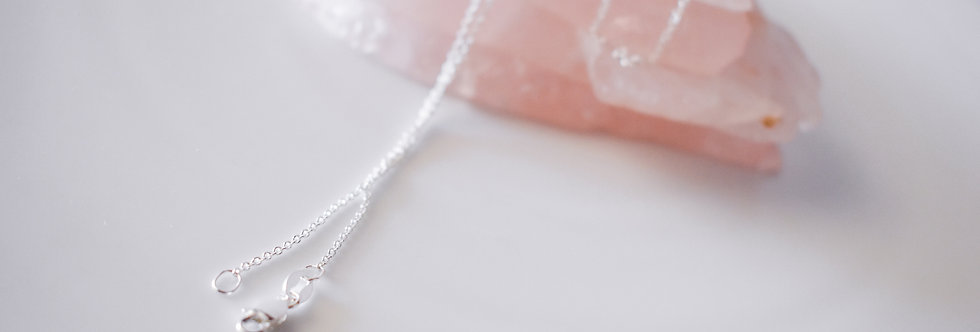 STERLING SILVER 50cm CABLE CHAIN NECKLACE