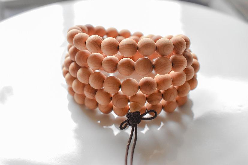 108 bead aromatic wood mala bracelet