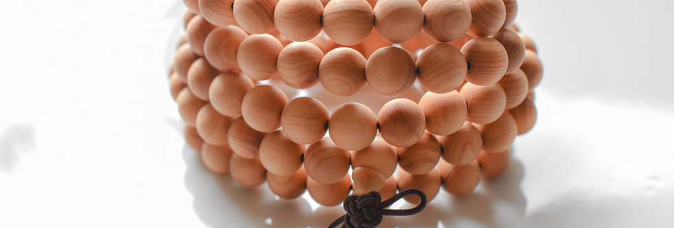 108 bead aromatic wood mala bracelet