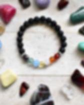 chakra bracelet - fire agate, carnelian,