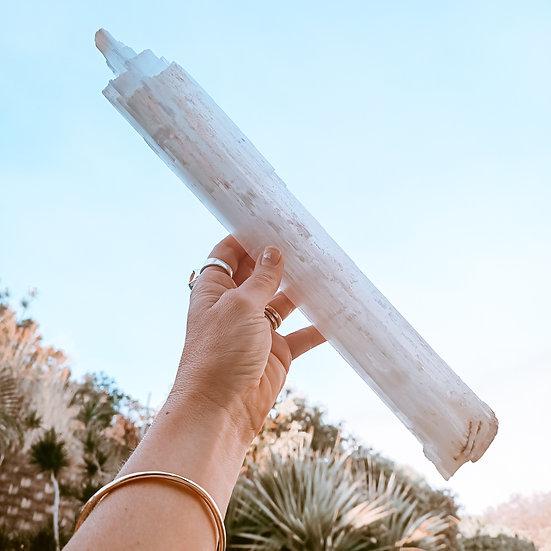 large natural selenite rod 630grams, queensland
