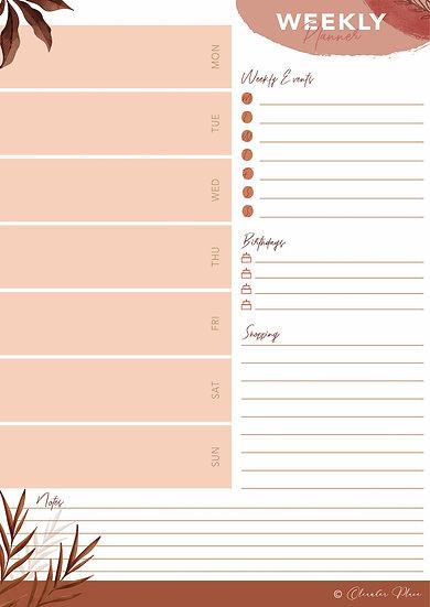 Weekly Life Planner - Printable