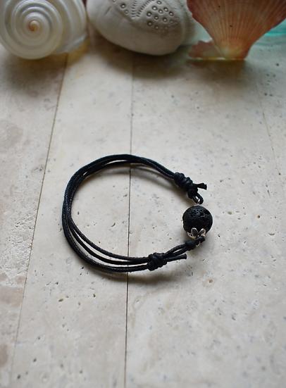 lava tibetan silver adjustable cord aromatherapy diffuser bracelet