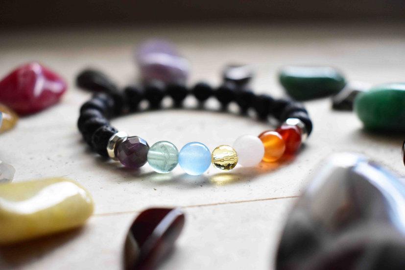 chakra aromatherapy gemstone bracelet