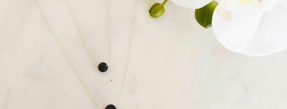 Femininity Lava Necklace - Gold & Silver