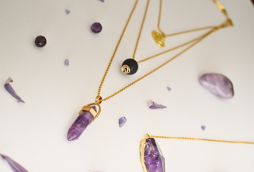 Bloom - Triple chain aromatherapy necklace