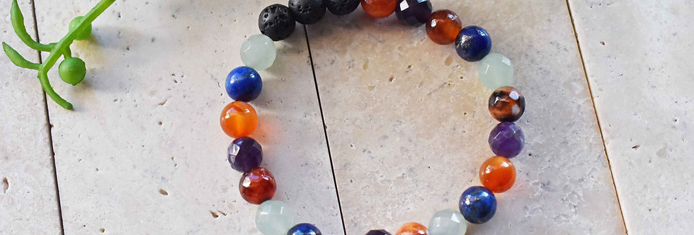 gemstone and lava aromatherapy bracelet