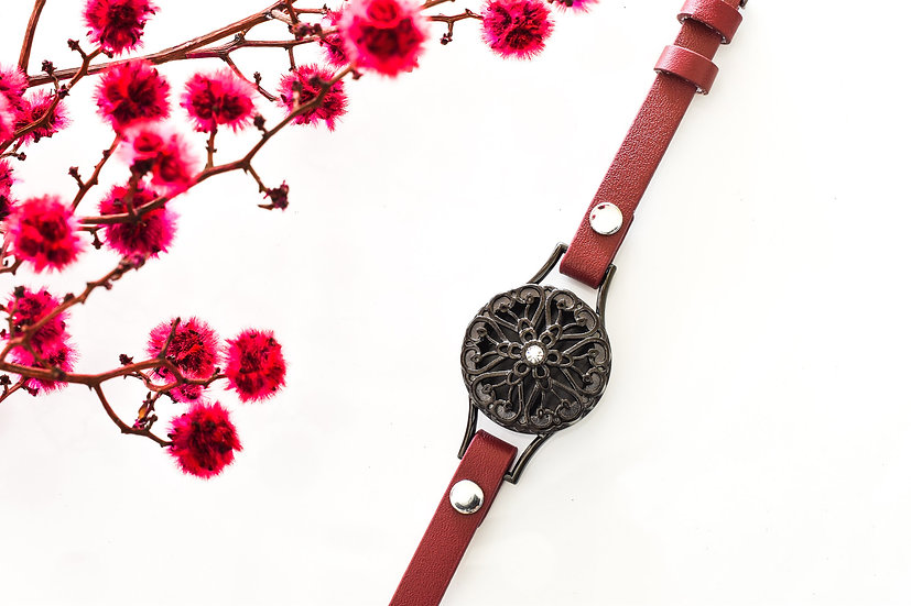 leather look wrap diffuser bracelet aromatherapy
