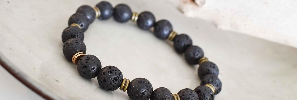 the nights watch, lava bracelet men