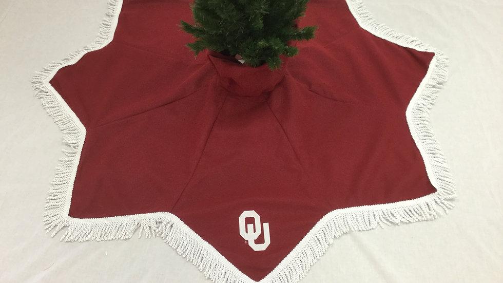 OU-University of Oklahoma Tree Skirt -Diamond (OU-License CL#VD1708)
