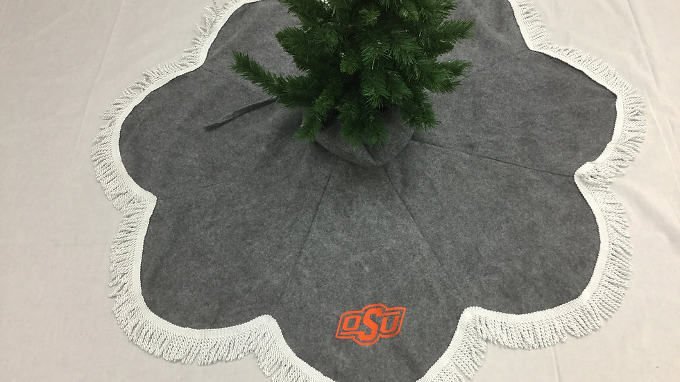 OSU Oklahoma State University -Tree Skirt Teardrop (Crafter's License #2019048)