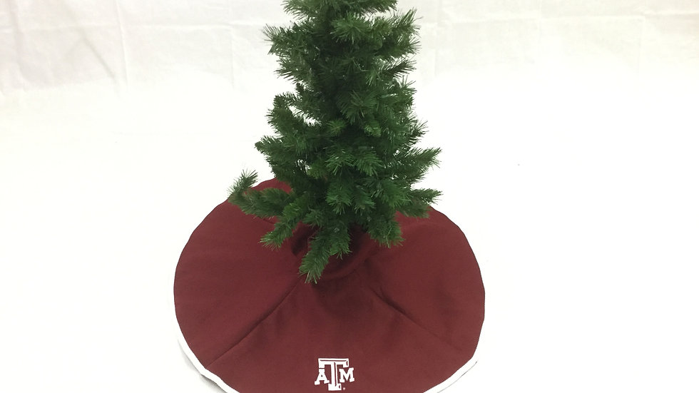 Texas A&M Maroon Tree Skirt - Mini(Texas A&M Crafter's  License Renewal Pending)