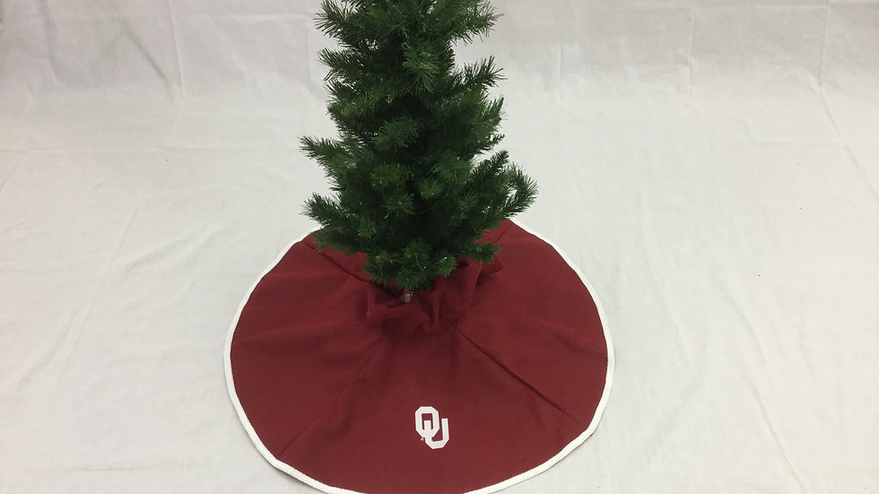 OU-University of Oklahoma Tree Skirt Mini (OU-License CL#VD1708)