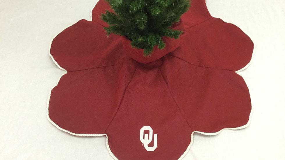 OU-University of Oklahoma Tree Skirt - Teardrop (Medium) (OU License-CL#VD1708)