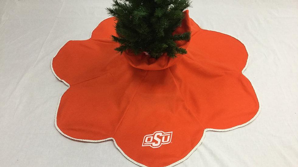 OSU Oklahoma State University Tear Drop Tree Skirt (Medium) (Crafter's License #
