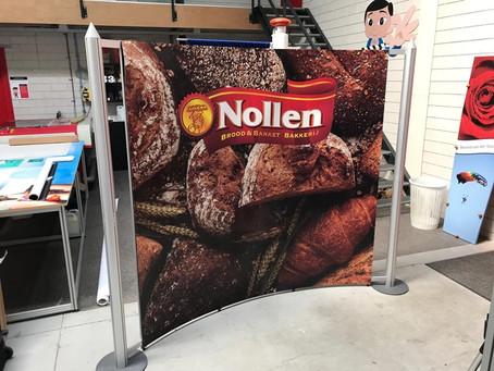 Bakkerij Nollen - mobiele beurswand