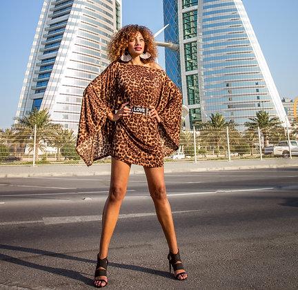 Cheetah Dolman Sleeve Dress
