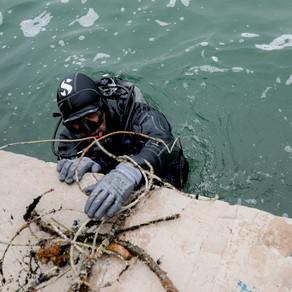 Καθαρίστηκε το λιμάνι της Βόνιτσας από την Ελληνική Οργάνωση Παραγωγών Υδατοκαλλιέργειας