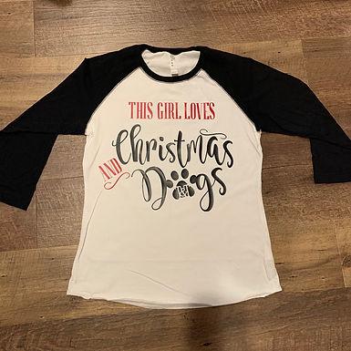 Christmas & Dogs Raglan
