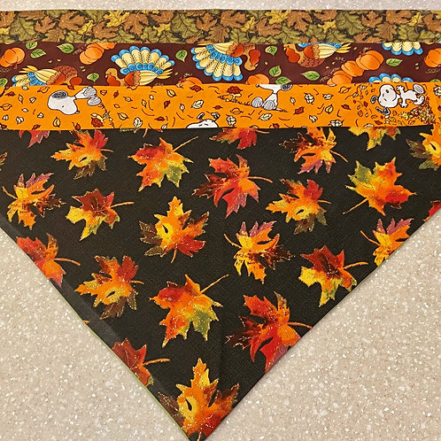 XL Fall & Thanksgiving Bandanas