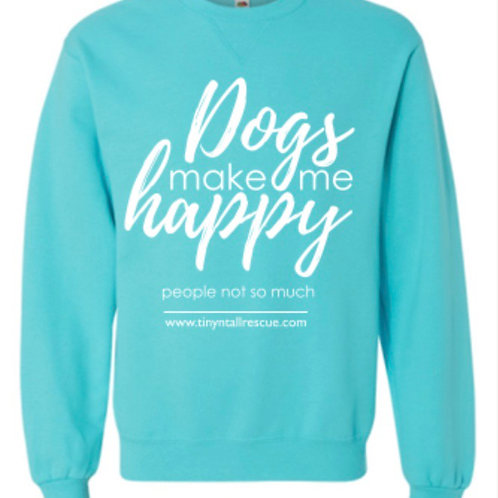 Teal Dogs Crewneck