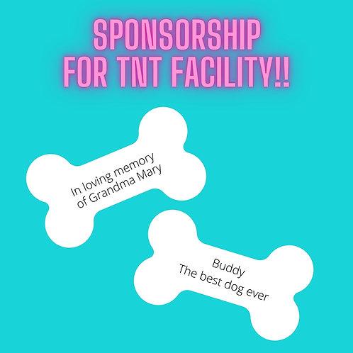 Level 1 Sponsorship for TNT Facility!!