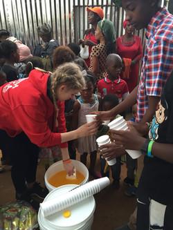 Feeding Programme - serving