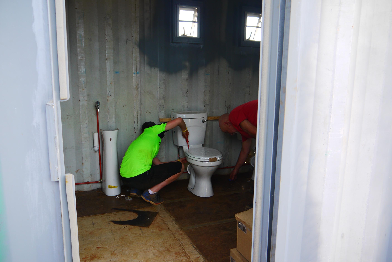 Installing toilets