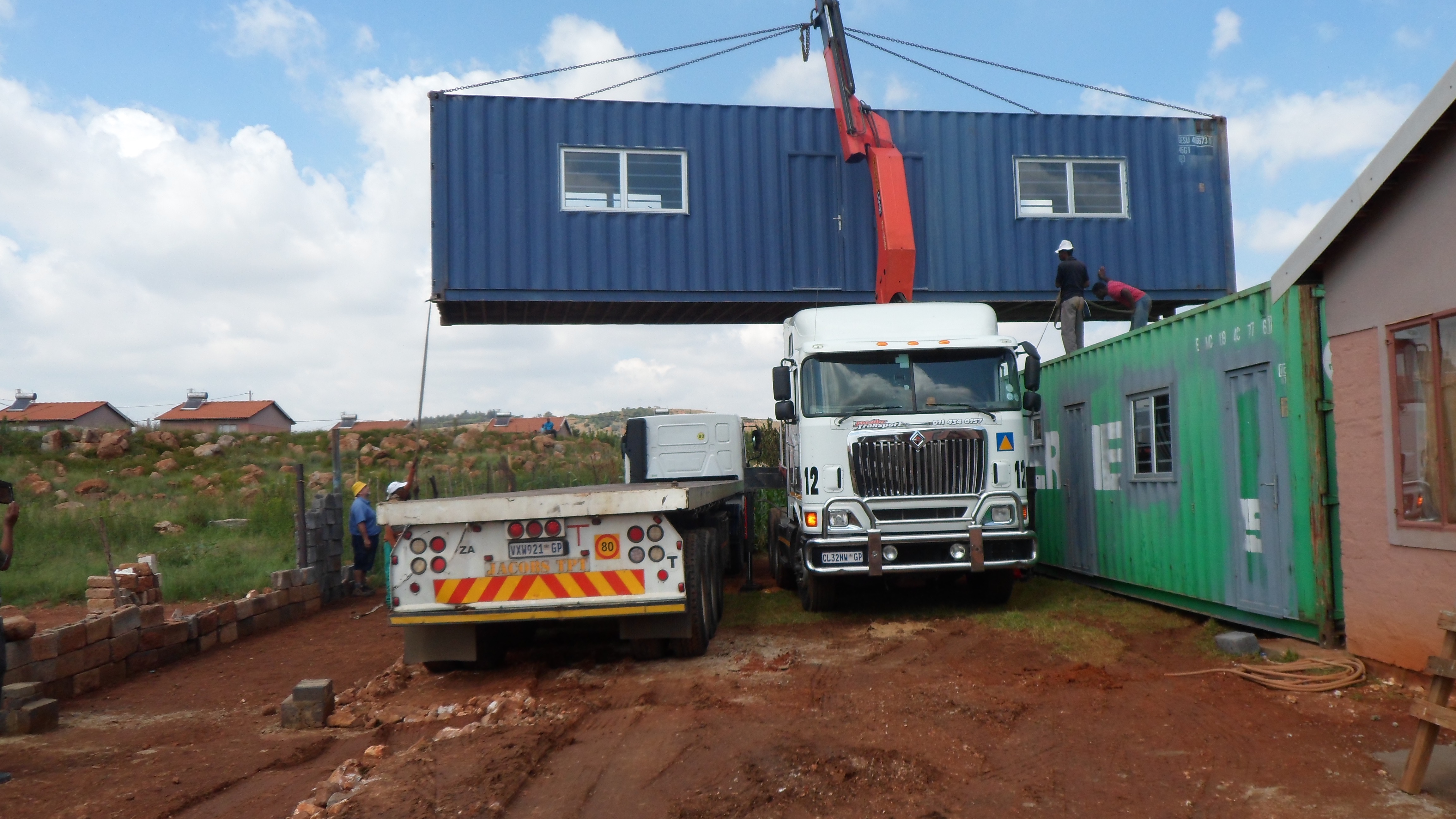 Containers arriving