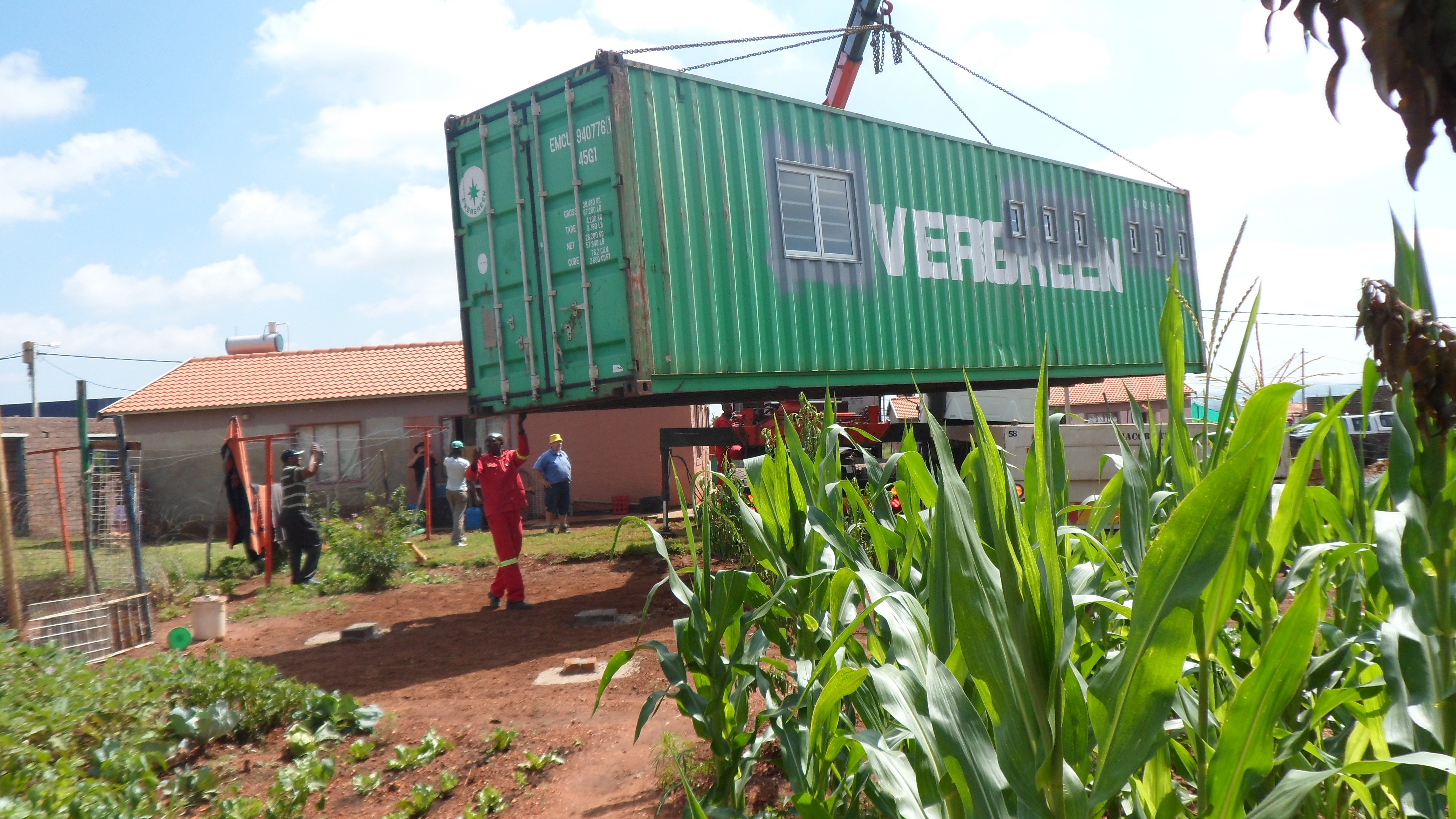 Container arriving