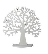 Albero foglie In legno Espositore con ganci