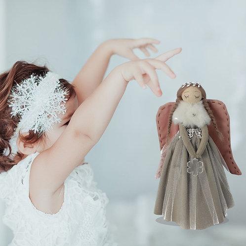 ANGELI IN PIEDI IN VELLUTO MISURA MEDIA