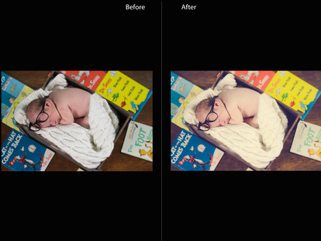 Newborn Editing Before and After | Memphis Photographer