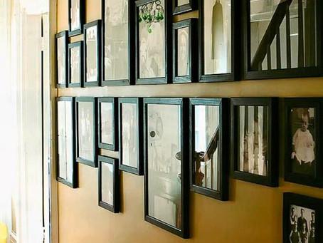 How to Display Photographs on a wall: Photo Wall Ideas   Memphis Newborn Photographer