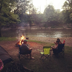 River front camping