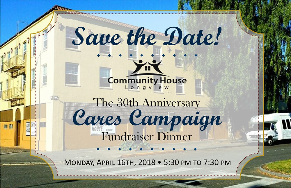 Save the Date for the Community House Cares Campaign 2018 Dinner