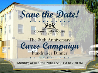 Coming Soon: The Cares Campaign Fundraiser Dinner!