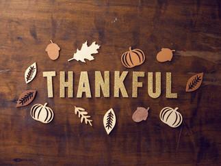 We're Thankful!