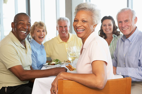 dinner party with age-wiser couples