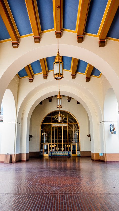 Grand space within Union Station, Los Angeles