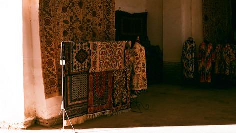 Inside the trading domes Bukhara Uzbekistan