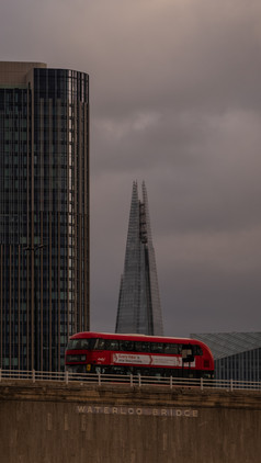 The Shard Over Waterloo Bridge