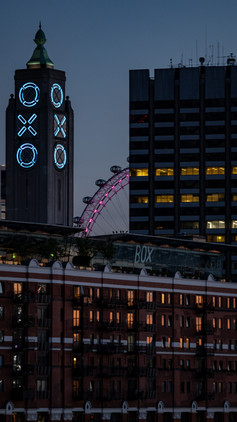 The Oxo Tower and The London Eye