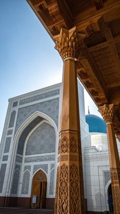 Marvelling at Minor Mosque, Tashkent, Uzbekistan