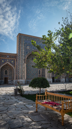 Peaceful Bibi-Khanym Mosque, Samarkand, Uzbekistan