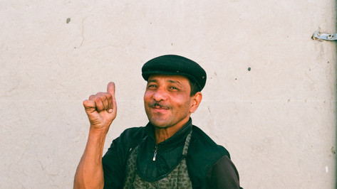 Shoeshiner in Bukhara Uzbekistan