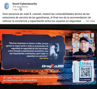 José R Leonett nos recuerda sobre la importancia de la Capacitación en seguridad informática