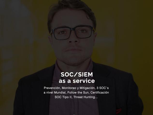 Servicio SOC/SIEM As a Service