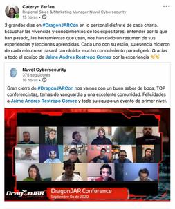 Conferencistas en DragonJAR 2020